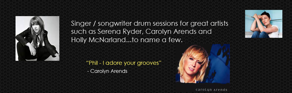 Studio Drummer for Carolyn Arends, Serena Ryder